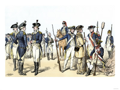 EVRV2A-00134~Continental-Army-Uniforms-1775-1783-during-the-Revolutionary-War-Posters