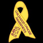 ChildCancerRibbonMagnet